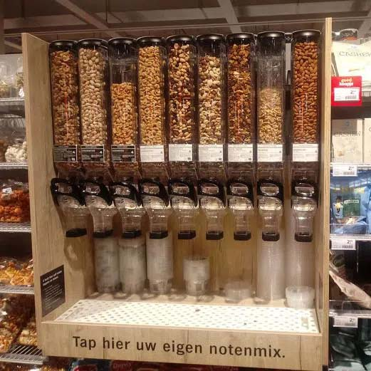 In-store call-to-action: create your own nut mix