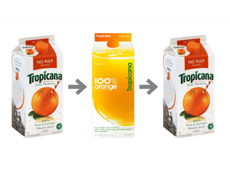 What to learn from Tropicana's restyling?
