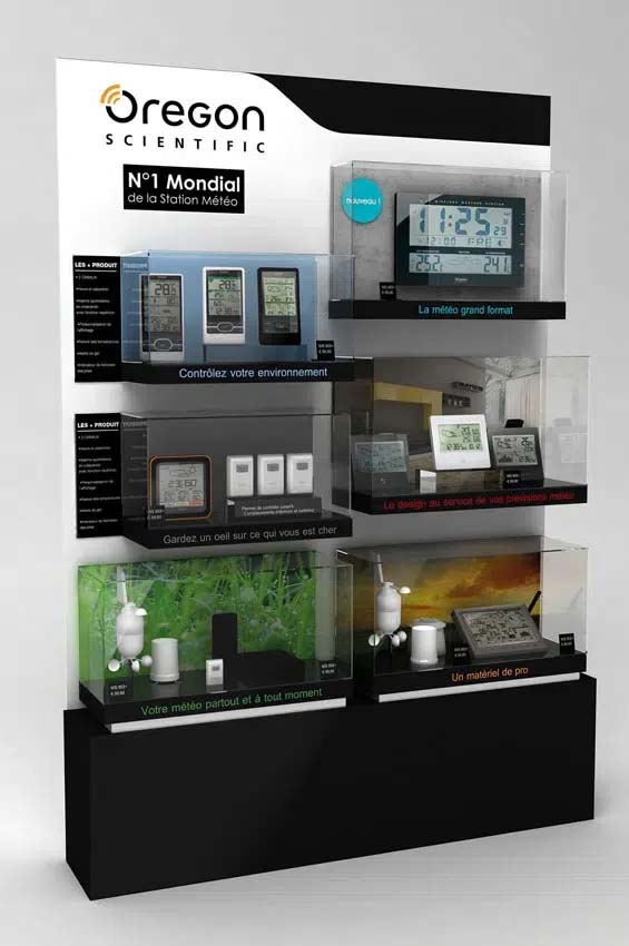 Display for electronics brand
