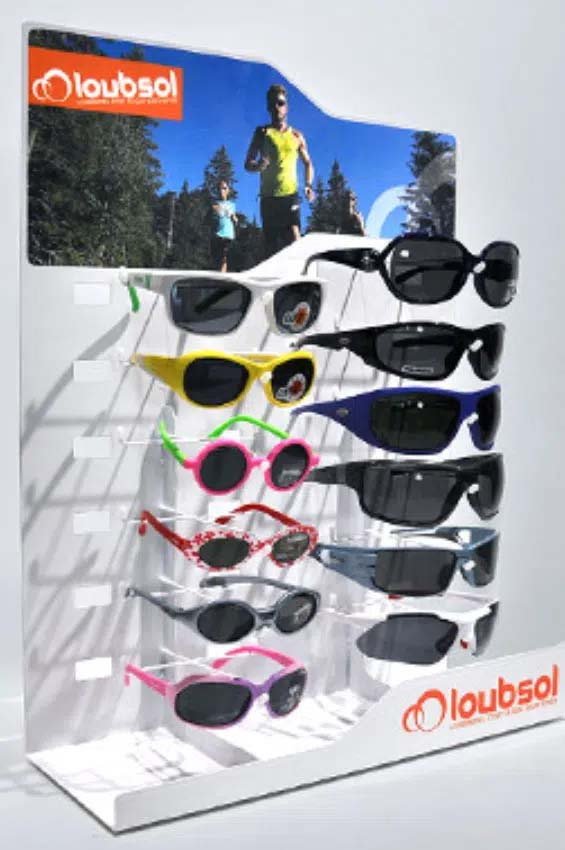 Counter presentation for sports eyeware Loubsol