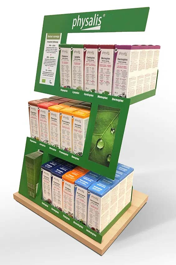 Countertop display for nutritional supplements