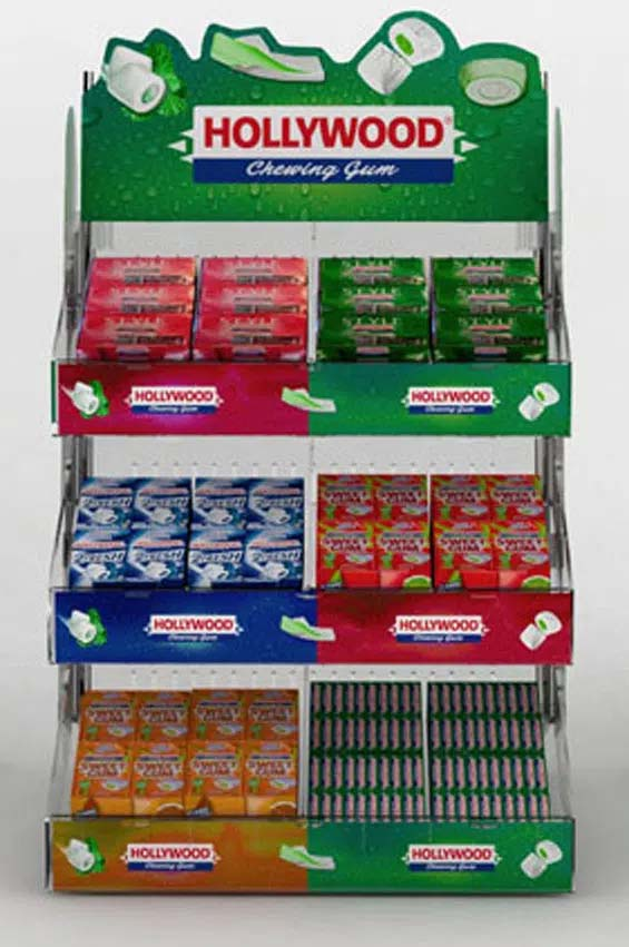 Point of sale countertop display Hollywood gum