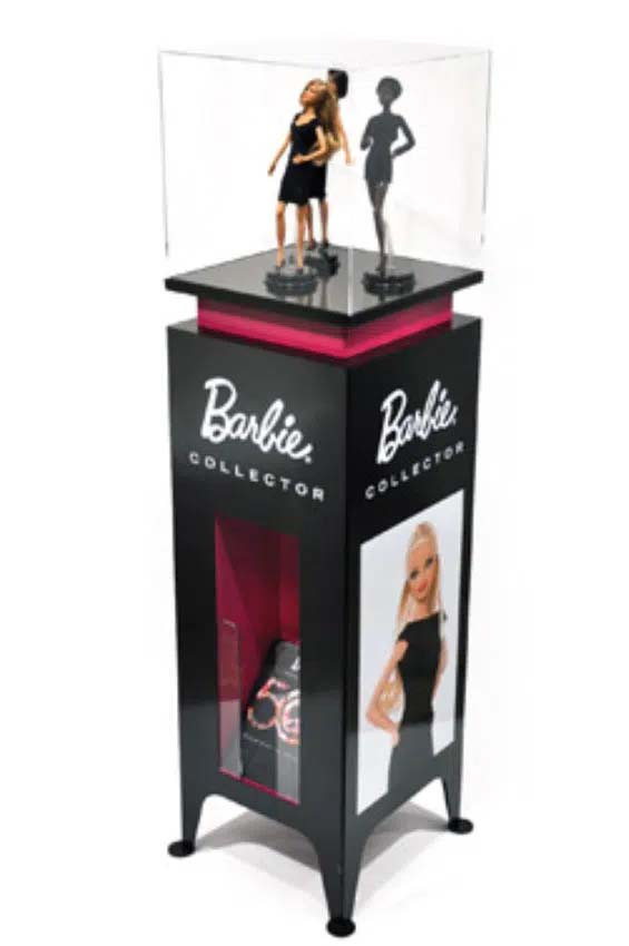 POS display case for anniversary collection Barbie